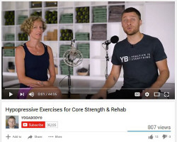 Hypopressive Exercise for Core Strength and Rehab with YogaBody, www.coresetfitness.com