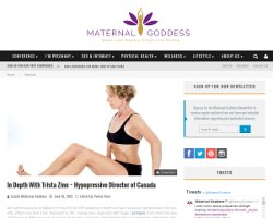 In Depth With Trista Zinn /maternalgoddess/www.coresetfitness.com